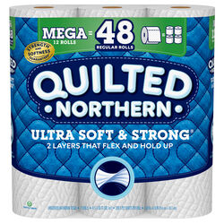 Quilted Northern  Ultra Soft & Strong  Toilet Paper  12 roll 328 sheet 4 in.