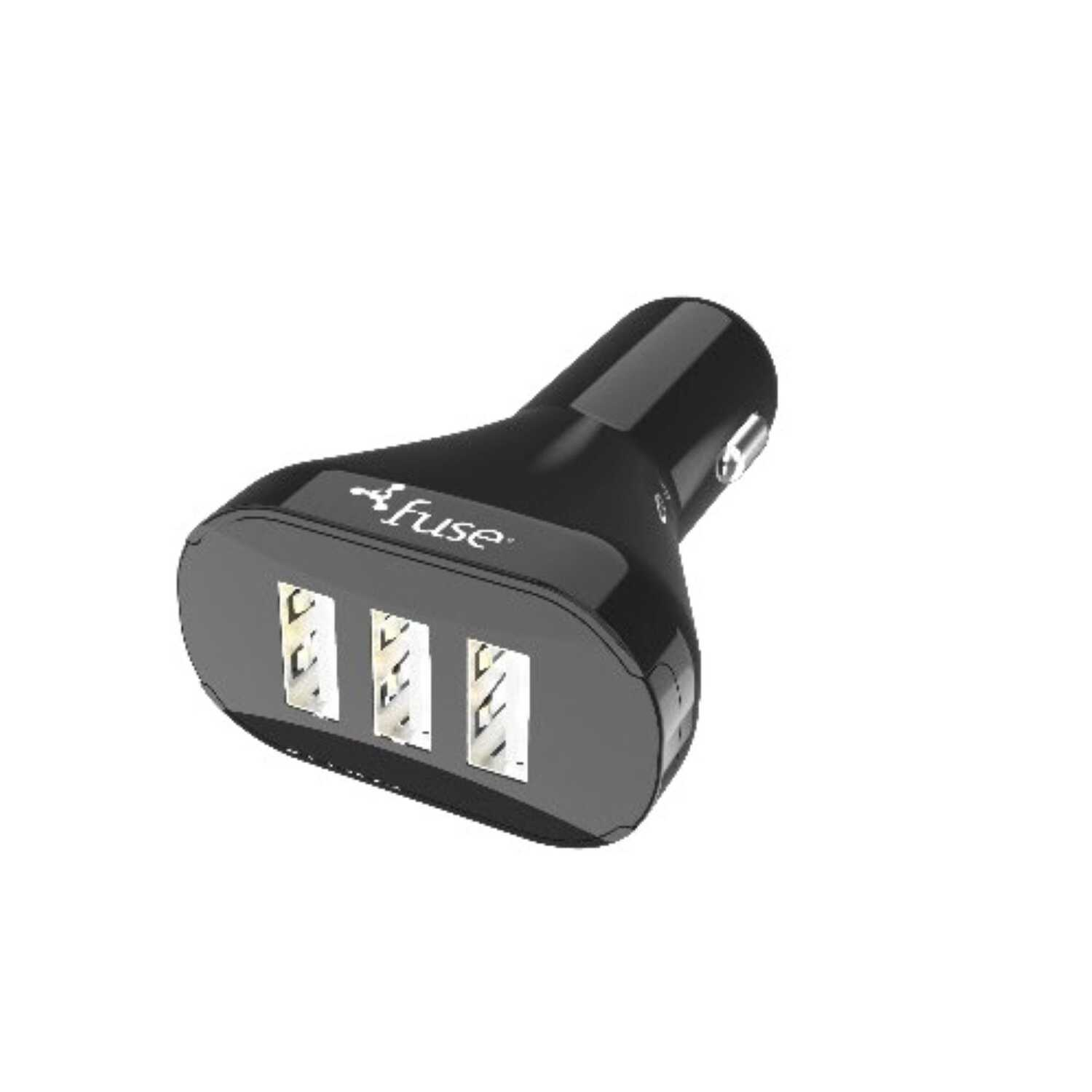 Fuse  4 Port Car Cell Phone Charger  1 pk