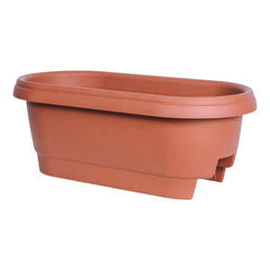 Bloem  24 in. H x 24  W Terracotta Clay  Resin  Deck rail  Deck Rail Planter
