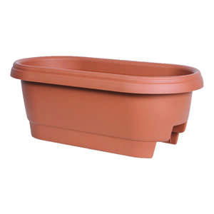 Bloem  24 in. H x 24 in. W Terracotta Clay  Resin  Deck Rail Planter