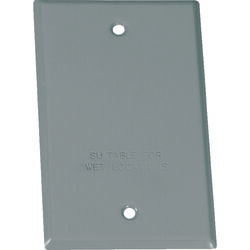 Sigma Electric  Rectangle  Steel  1 gang Flat Box Cover  For Wet Locations