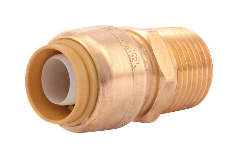 SharkBite  Push to Connect 1/2 in. IPS   x 1/2 in. Dia. MPT  Brass  Adapter