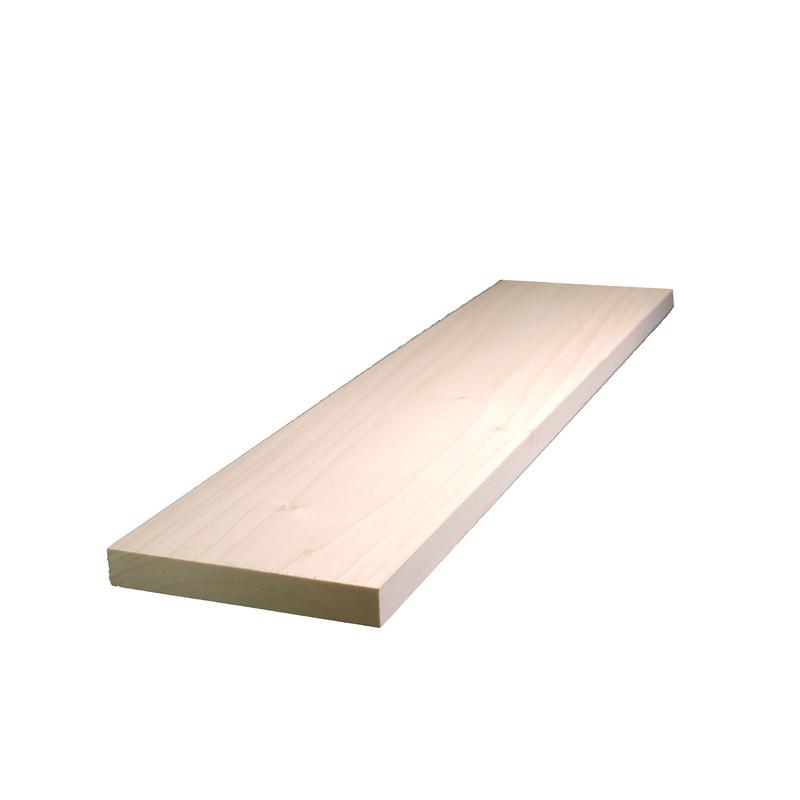 Poplar  Board L x 1 in W x 4 ft Alexandria Moulding  6 in