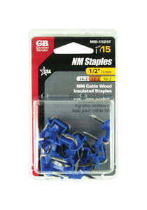 Gardner Bender  1/2 in. W Metal  Insulated Cable Staple  15 pk