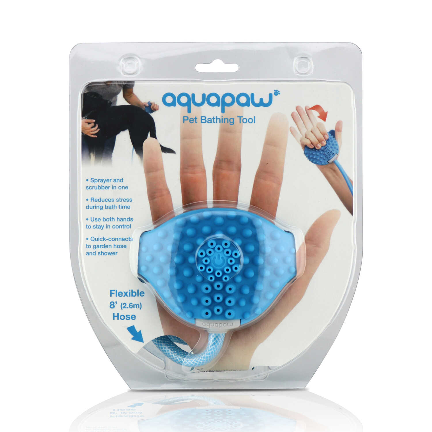Aquapaw  For All Pets Blue  Bathing Tool  1 pk