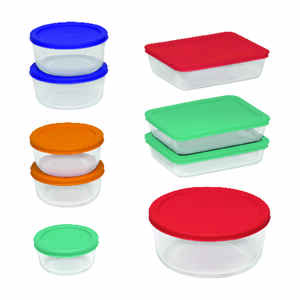 Pyrex  Food Storage Container Set  1 pk Multicolored