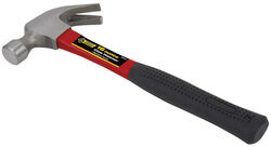 Steel Grip  16 oz. Smooth Face  Claw Hammer  Fiberglass Handle