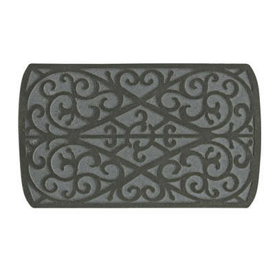 Sports Licensing Solutions  30 in. L x 18 in. W Rubber  Gray  Scroll  Nonslip Floor Mat