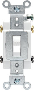 Leviton  Commercial  20 amps Toggle  Switch  White  1 pk