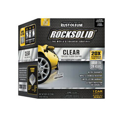Rust-Oleum RockSolid High-Gloss Clear Garage Floor Coating Kit 90 oz.