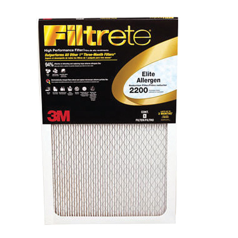 3M  Filtrete  20 in. W x 1 in. D x 30 in. H Air Filter