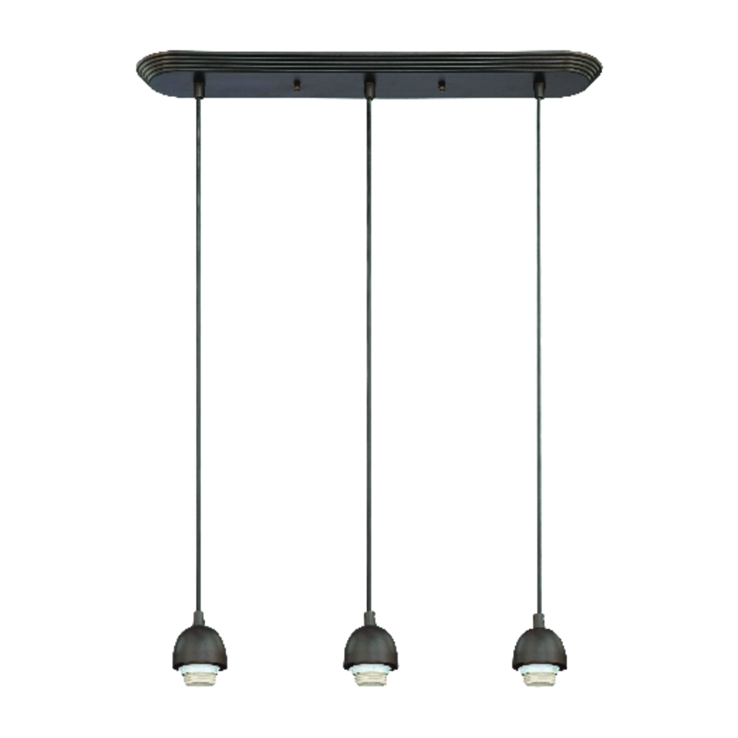 Westinghouse  Oil-Rubbed  3  Black  Mini Pendant Light