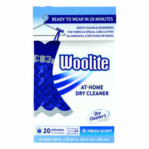 Woolite  Fresh Scent Home Dry Cleaner  Wipes  6 count