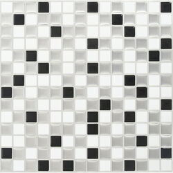 Peel and Impress 10 in. W x 10 in. L Multiple Finish (Mosaic) Vinyl Adhesive Wall Tile 4 pc.