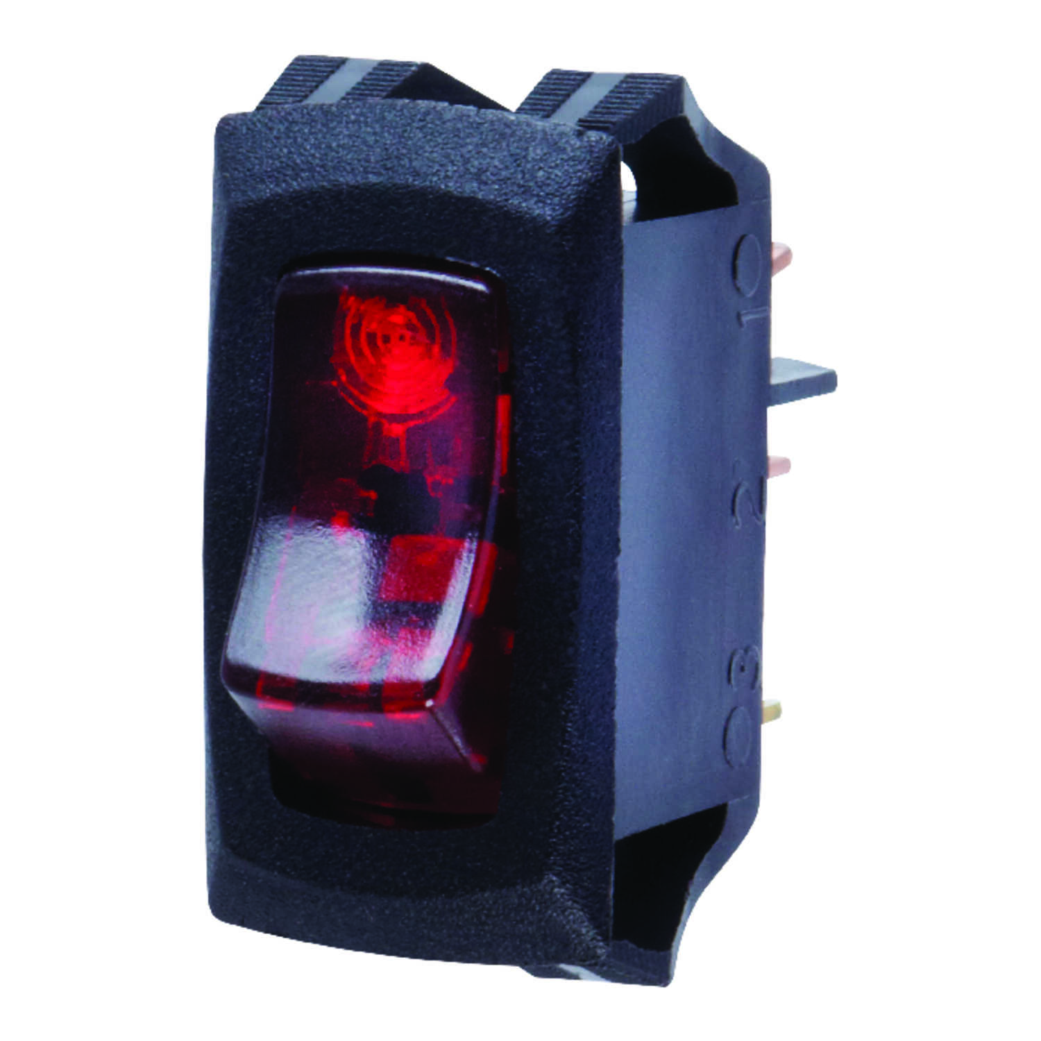 Jandorf  Single Pole  16 amps Appliance Switch  1  Rocker  Black/Red