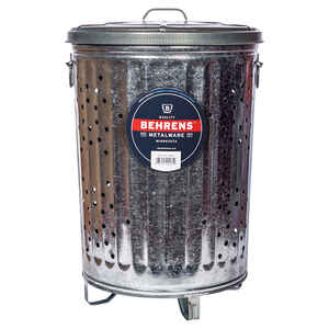 Behrens  20 gal. Galvanized Steel  Smoking Receptacle  Lid Included Animal Proof/Animal Resistant