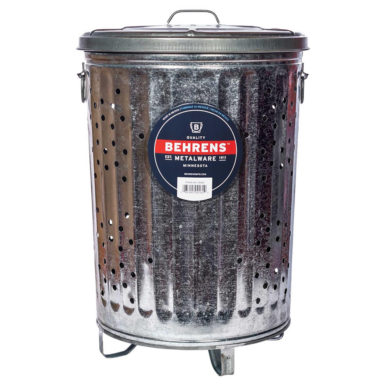Behrens 20 Gal Galvanized Steel Smoking Receptacle Lid
