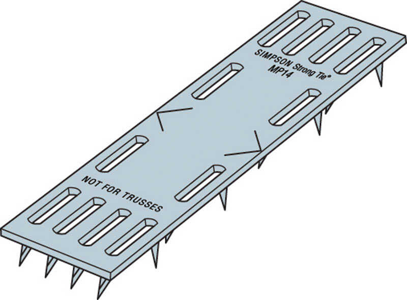 Simpson Strong-Tie  4 in. H x 0.4 in. W x 1 in. L Galvanized  Steel  Mending Plate