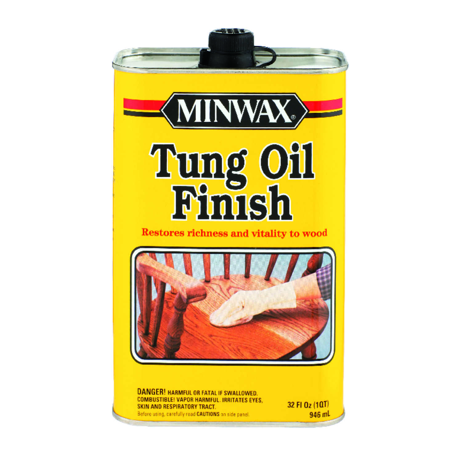 Minwax  Transparent  Amber  Oil-Based  Tung Oil  1 qt.