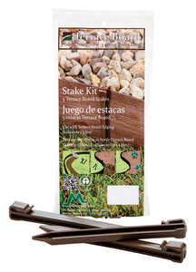 Master Mark  Terrace Board  5 in. L x 5 in. H Plastic  Brown  Stake Kit