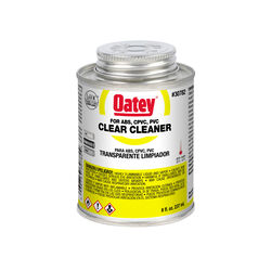 Oatey  Clear  Cleaner  For ABS/CPVC/PVC 8 oz.