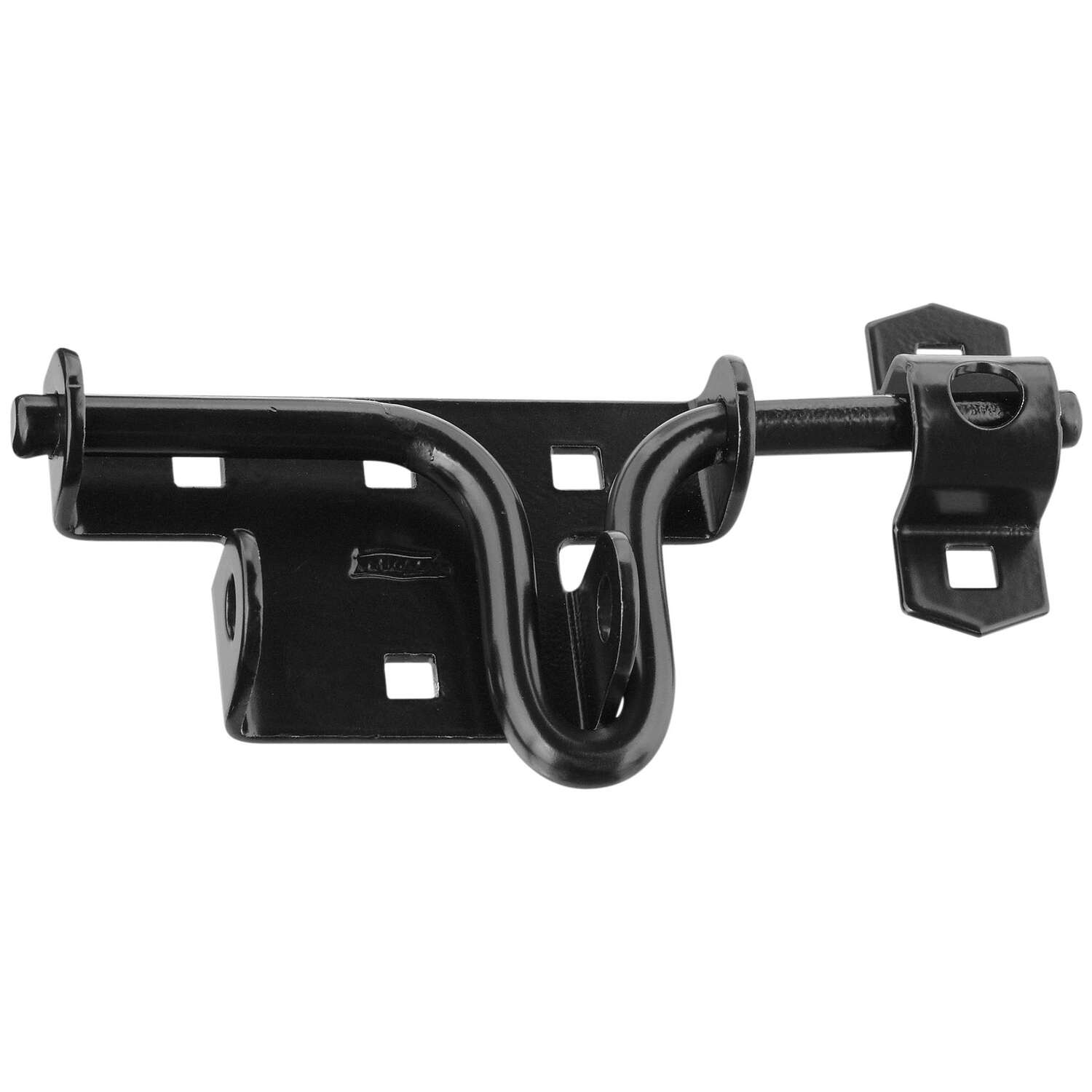 National Hardware 6.19 in. H Black Steel Slide-Action Door/Gate Latch