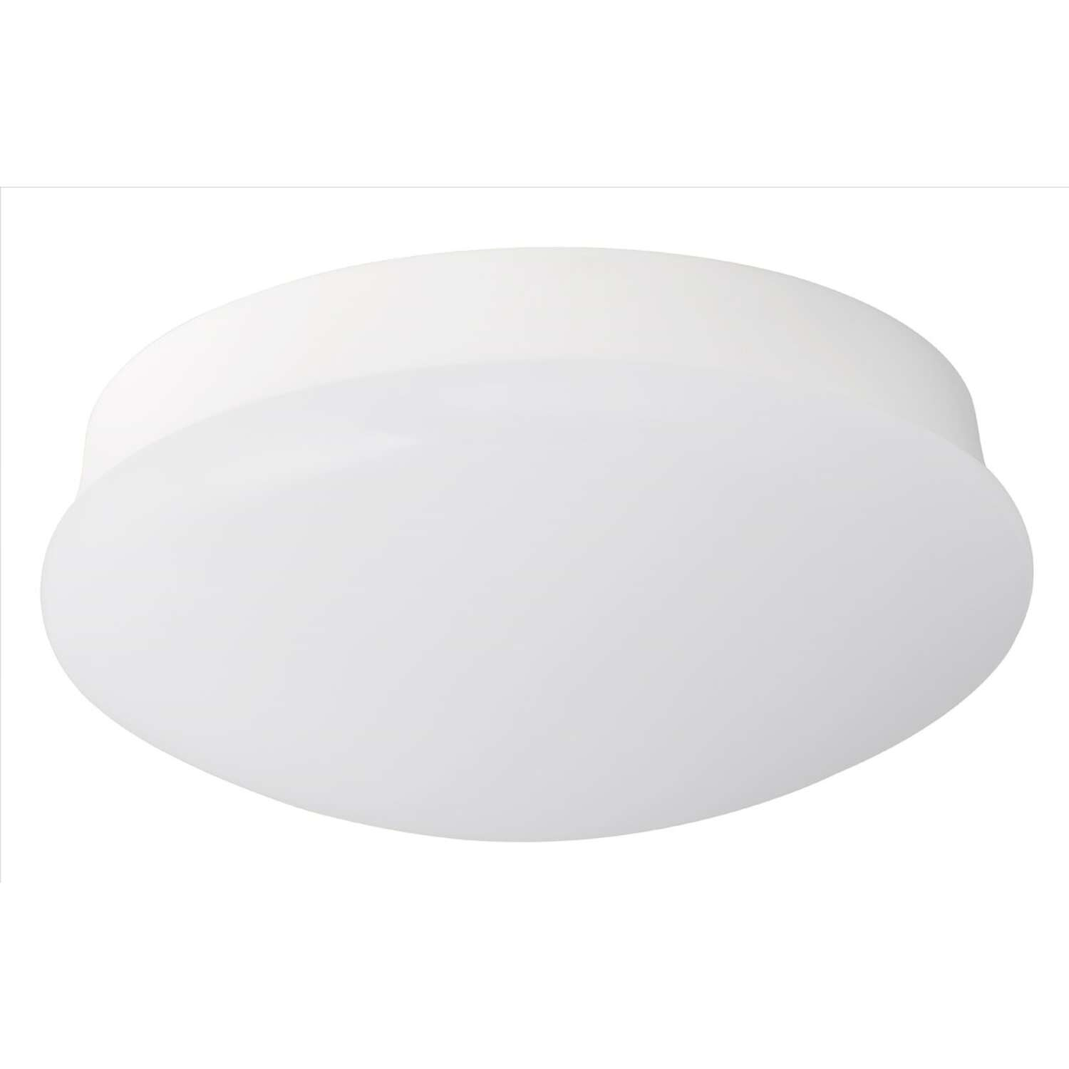 ETI Spin Light 4.2 in. H x 11 in. W x 11 in. L White LED Ceiling Spin Light