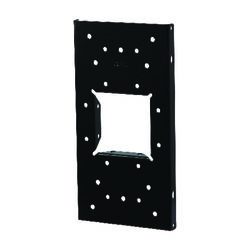 Gibraltar Mailboxes Black Steel Mailbox Mounting Board .060 Ga. 12.875 in. L