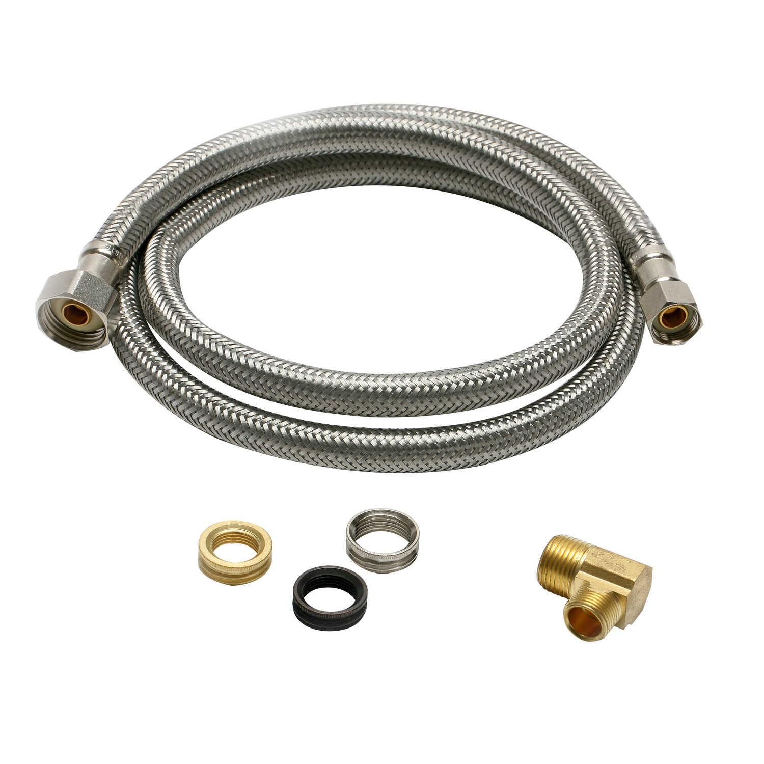 Fluidmaster  3/8 in. Compression   x 1/2 in. Dia. FIP  60 in. Stainless Steel  Supply Line