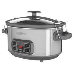 Black and Decker 7 qt. Silver Stoneware Slow Cooker
