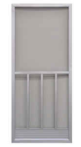 Precision  79-3/4 in. H x 31-1/4 in. W Promo  Gray  Aluminum  Screen Door