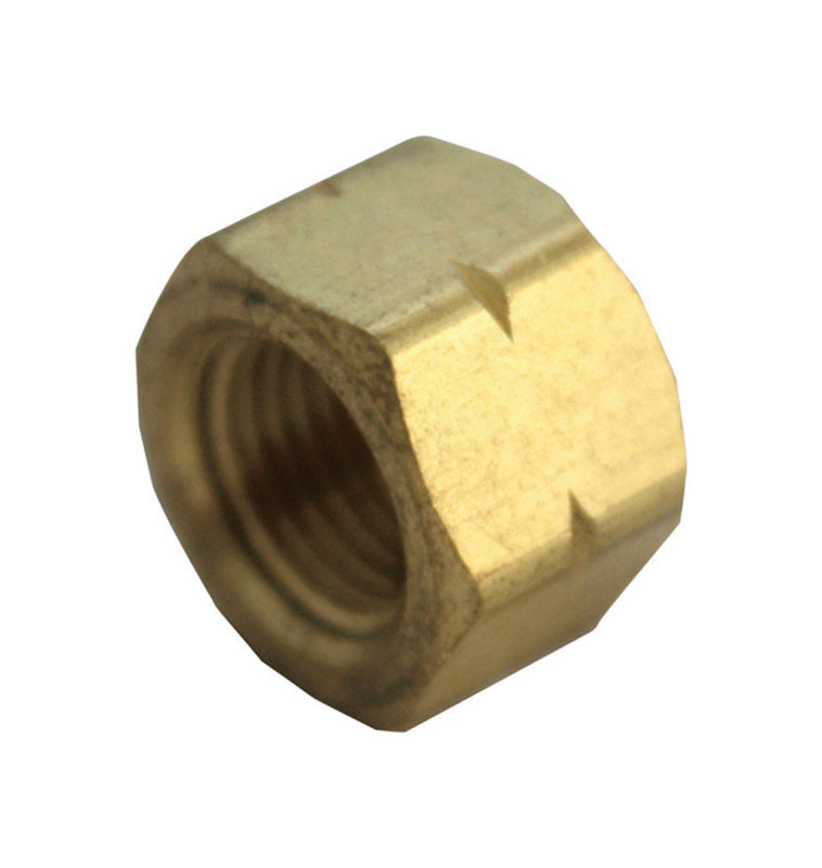 Ace  3/4 in. Dia. x 3/4 in. Dia. FPT To Compression To Compression  Yellow Brass  Cap