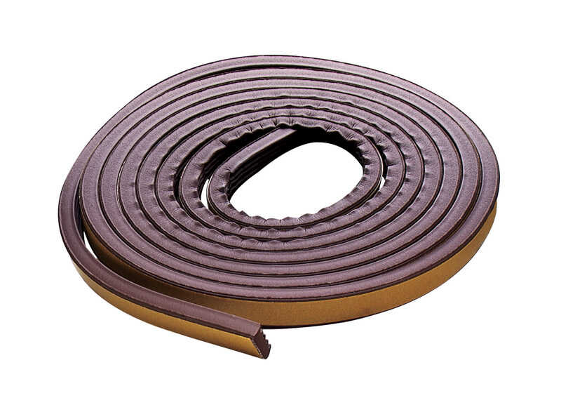 M-D Building Products  Brown  Rubber  17 ft. L x 7/32 in.  For Door and Window Weather Stripping