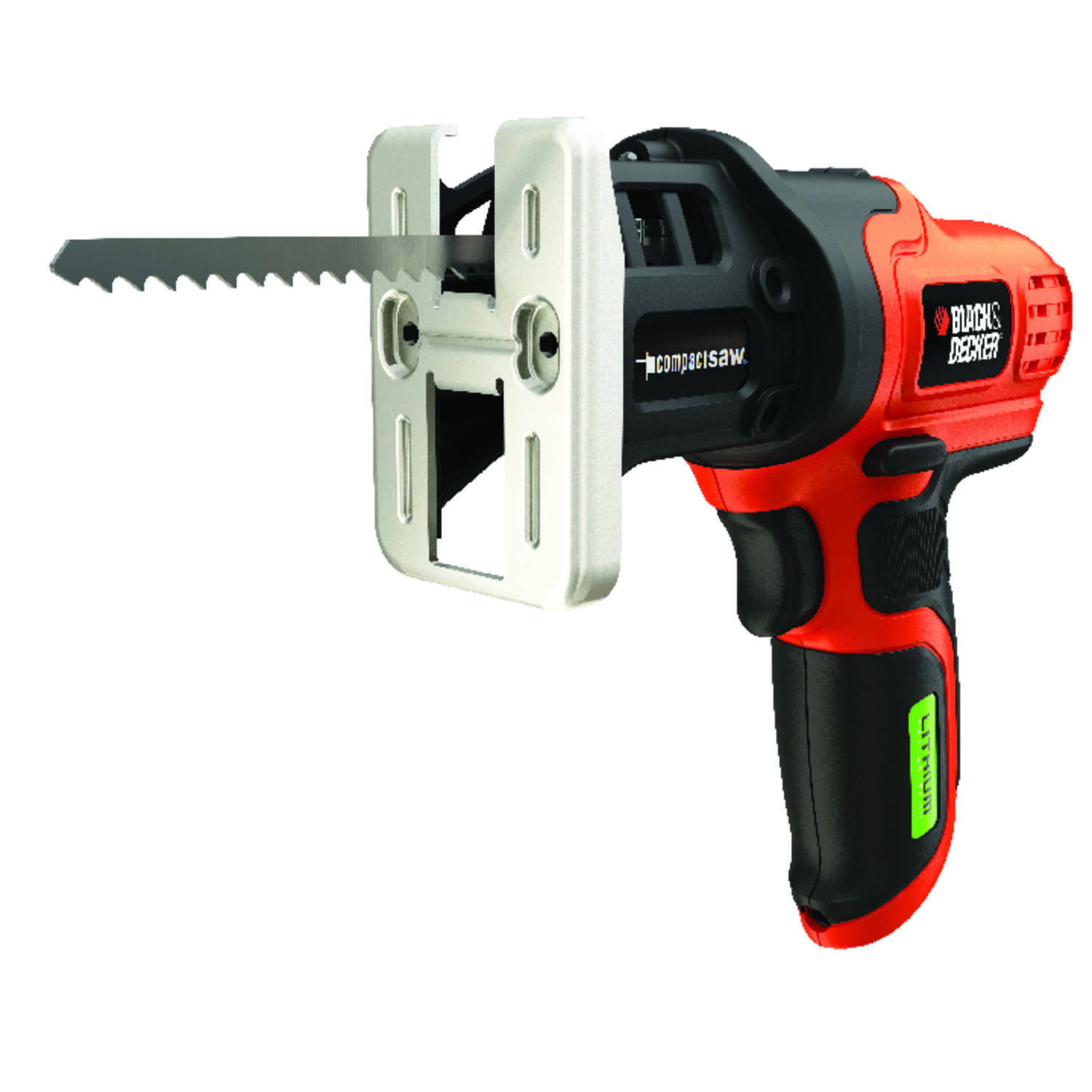 Black and Decker Lithium Batterytech 7.2 volt Cordless Brushed Compact Saw Kit (Battery & Charg