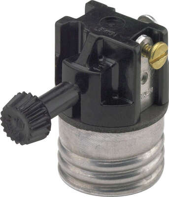 Leviton Aluminum Medium Base Turn Knob Socket 1 Pk Ace Hardware