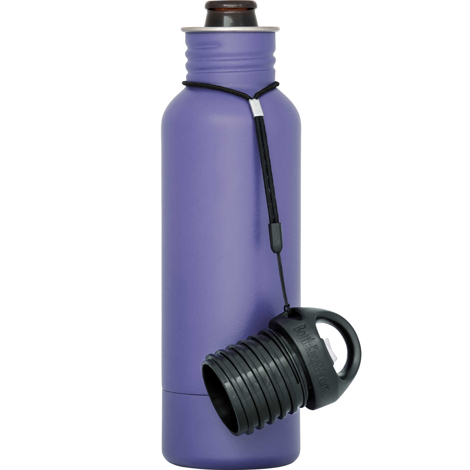 BottleKeeper  The Standard 2.0  Insulated Bottle Koozie  12 oz. Purple  1 pk