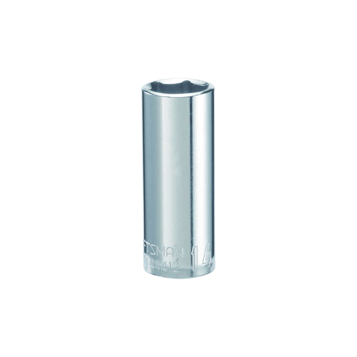 Craftsman  14 mm  x 1/4 in. drive  Metric  6 Point Deep  Socket  1 pc.