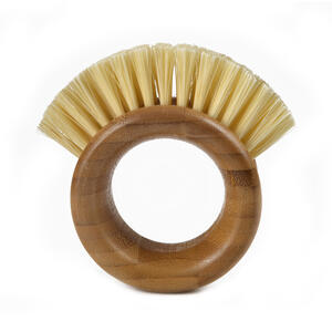 Full Circle  The Ring  3.74 in. W Bamboo  Vegetable Brush