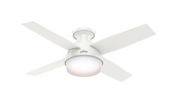 Hunter Fan  Dempsey  44 in. Snow White  Indoor  Ceiling Fan