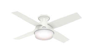 Hunter Fan  Dempsey  4 blade Indoor  White  Ceiling Fan