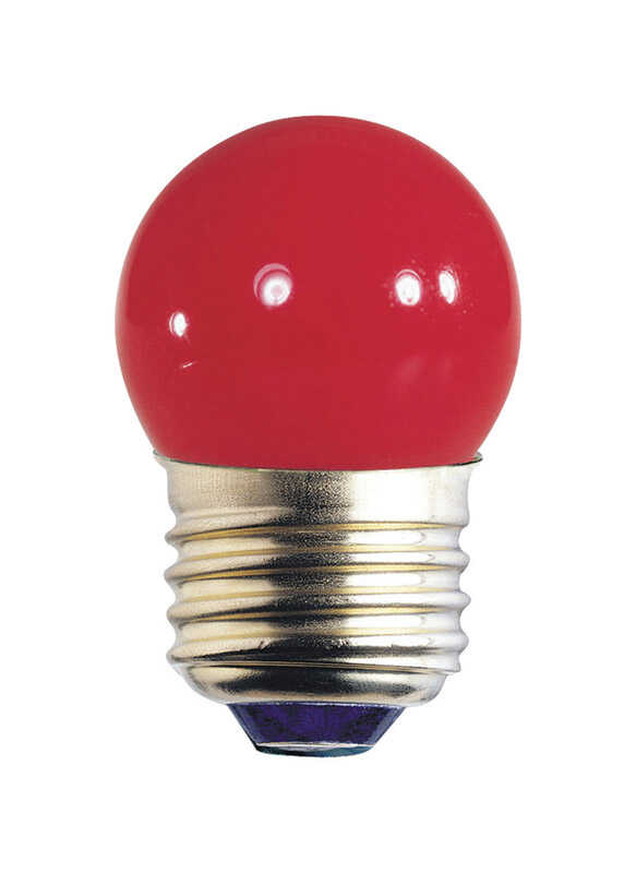 Westinghouse  7.5 watts S11  Incandescent Bulb  Red  Speciality  1 pk