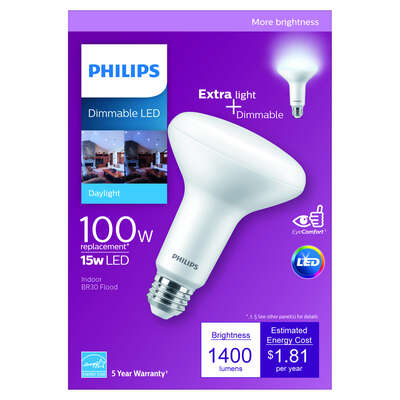 Philips  BR30  E26 (Medium)  LED Bulb  Daylight  100 Watt Equivalence 1 pk