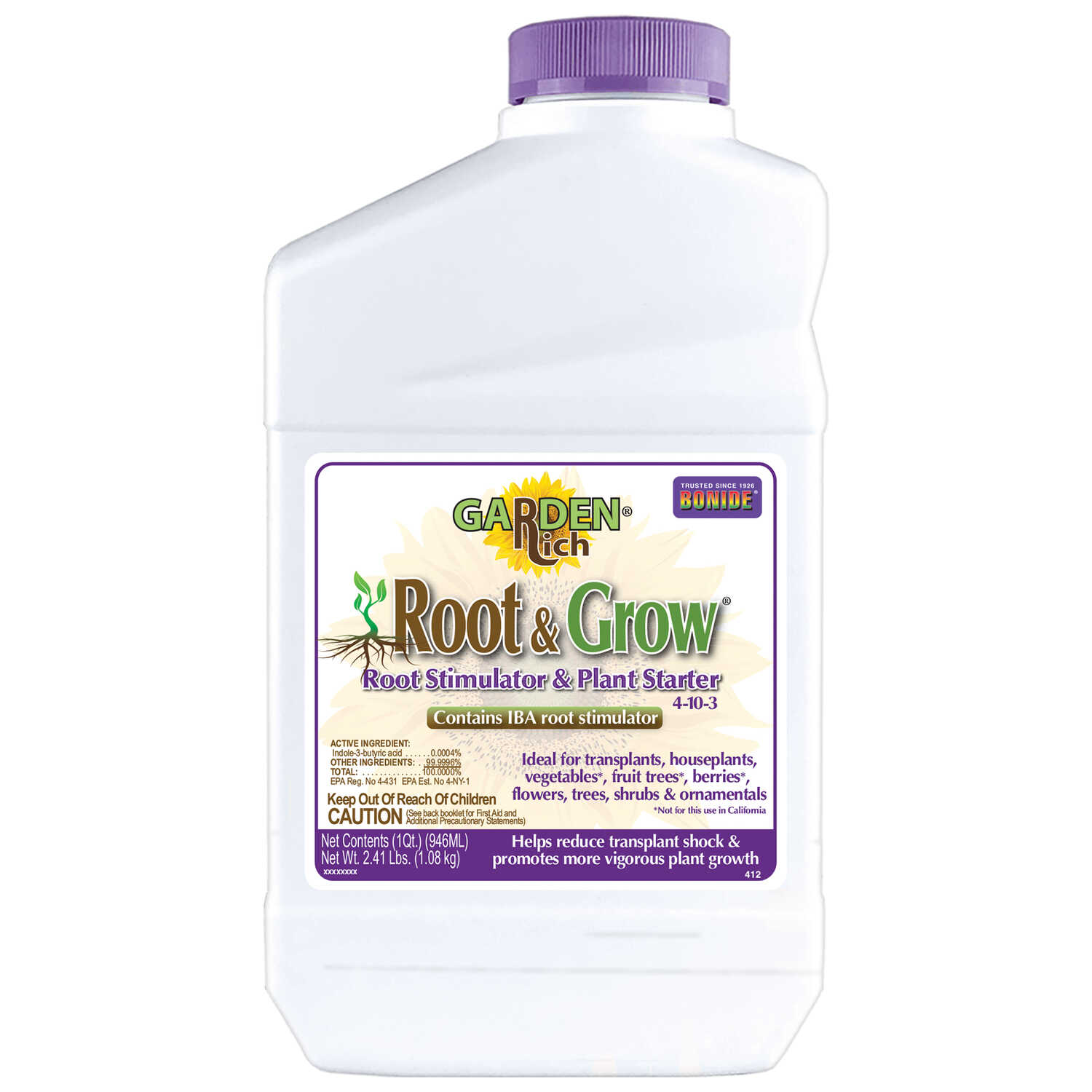 Bonide  Root & Grow  Liquid  Root Feeder  1 qt.