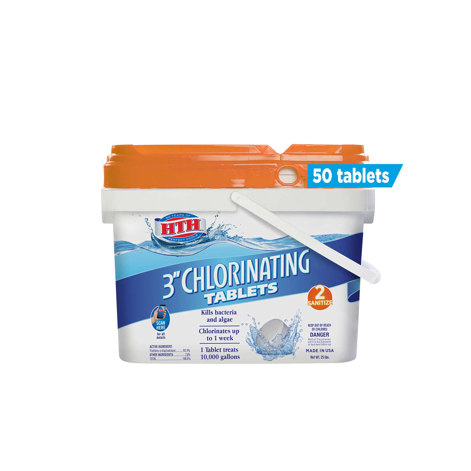 hth  Tablet  Chlorinating Chemicals  25 lb.