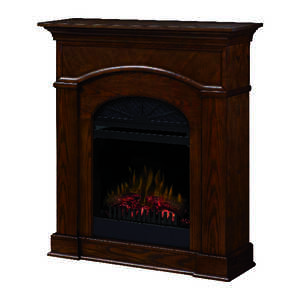 Dimplex  39.8 in. W Brown  Transitional  Electric Fireplace  400 sq. ft.
