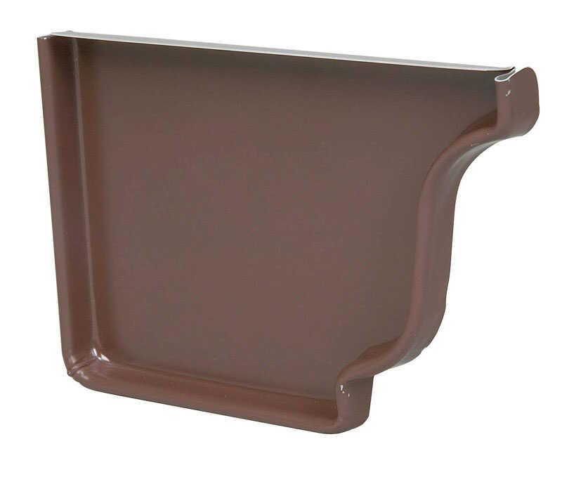 Amerimax 0 5 In H X 3 5 In W X 5 25 In L Brown Aluminum