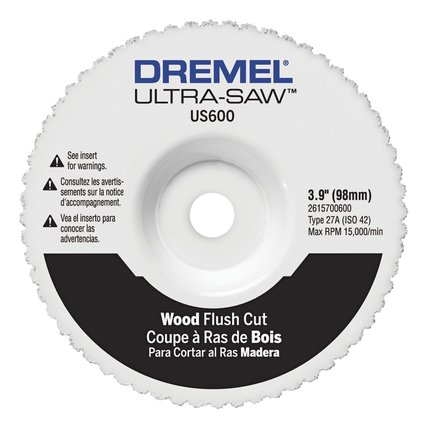 Dremel  Ultra-Saw  3-7/8 in   x 3-7/8 in. L x 4 in. Dia. Carbide  Cutting Wheel  1