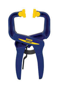 Irwin  Quick-Grip  2 in. D Resin  Locking  Handi-Clamp  Blue  1 pc.
