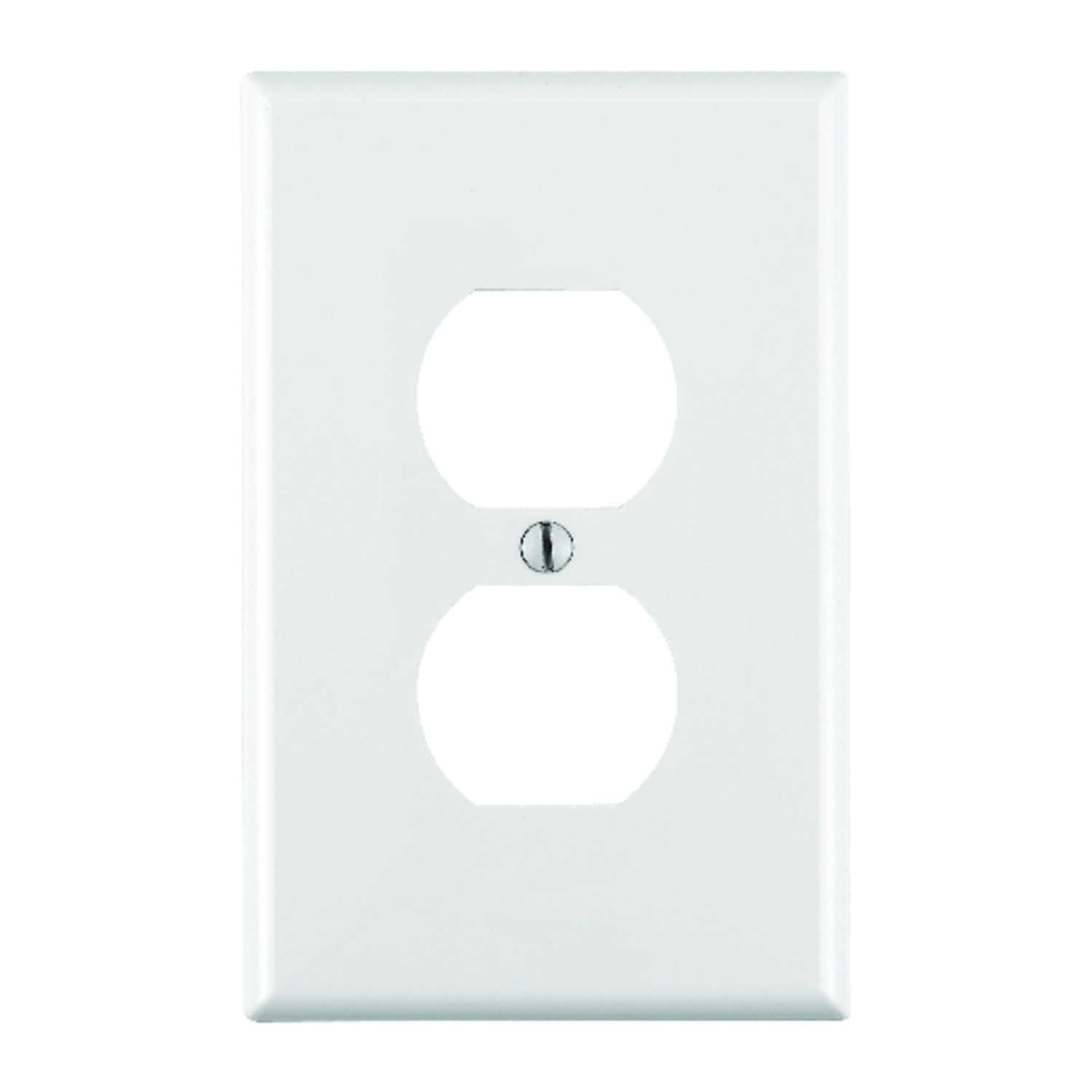 Leviton Midway White 1 gang Nylon Duplex Outlet Wall Plate 1