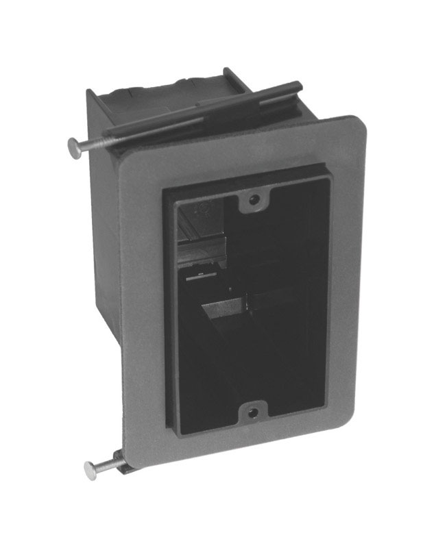 Cantex  4 in. Rectangle  PVC  1 Gang  Gray  Junction Box